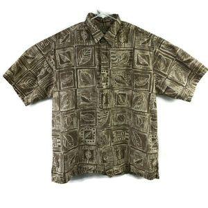 Tori Richard Hawaiian Button Down Shirt